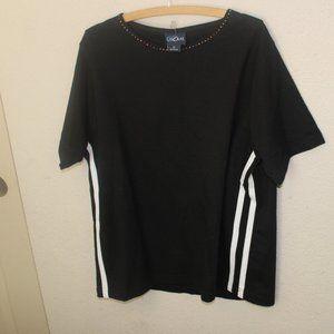 Vintage LasOlas Brazil RN99042 Women's Black Shirt